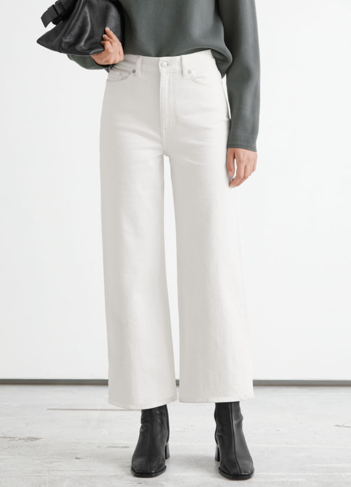 white cropped jeans 2021