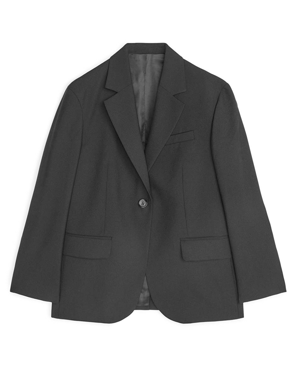 arket black oversized blazer