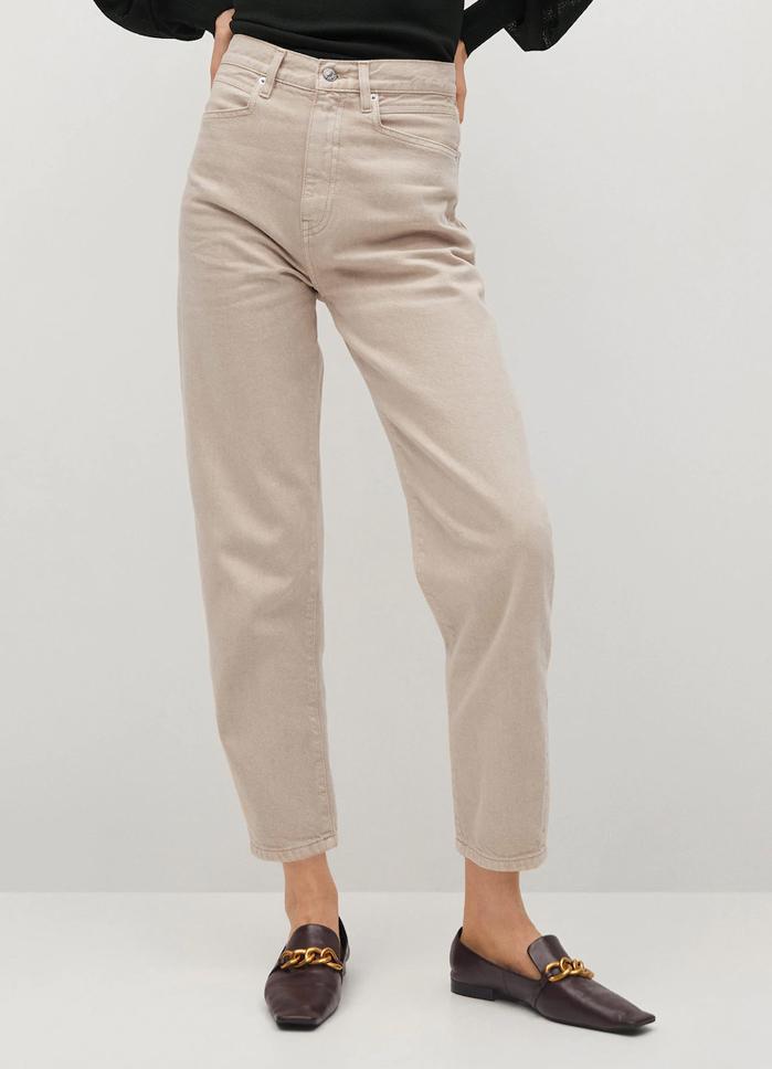 beige jeans woman 2021 mango