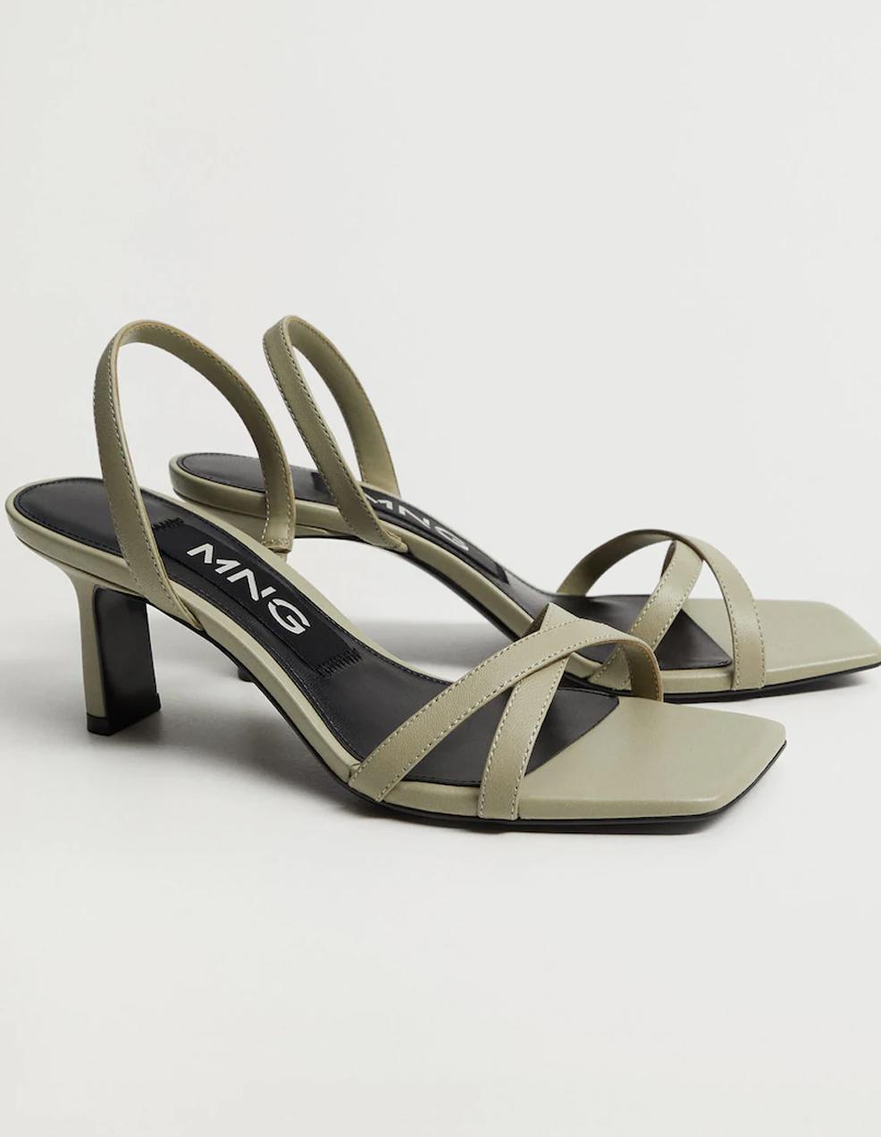 khaki heeled sandals