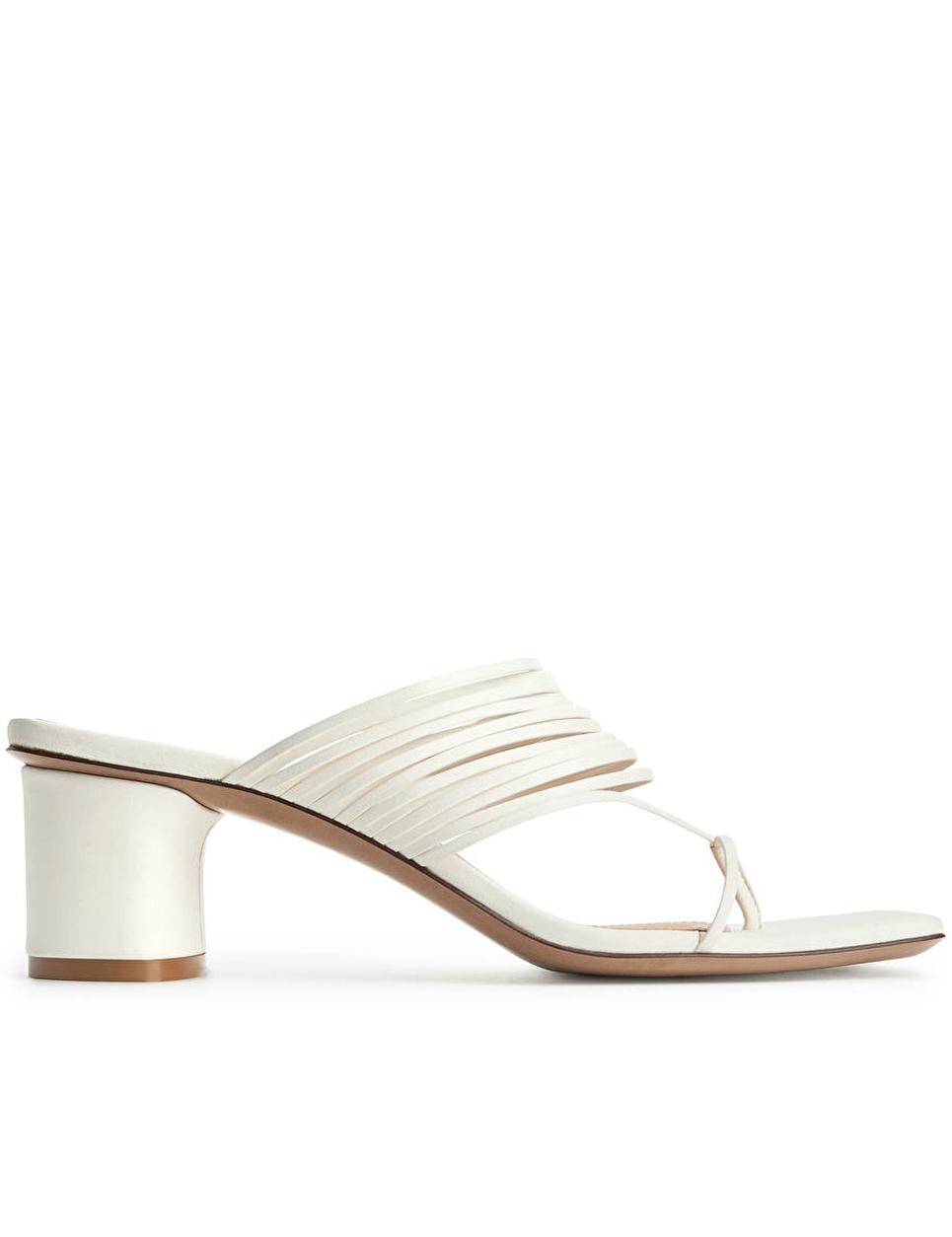 beige strappy sandals arket