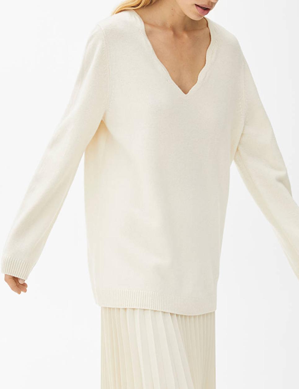 arket scalloped jumper