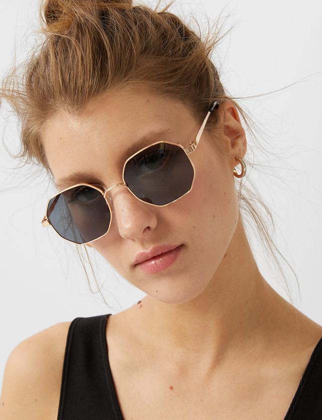 geometric sunglasses stradivarius