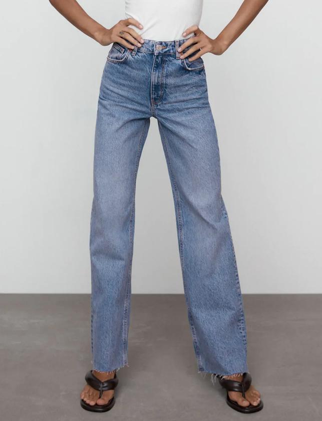 zara wide leg jeans review