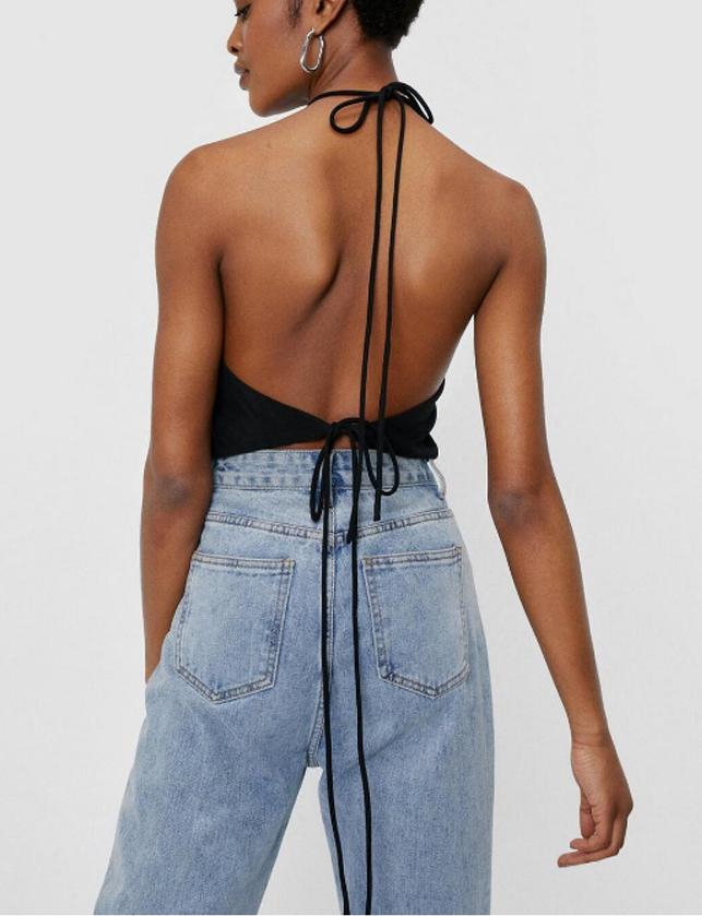 black open back top summer 2021