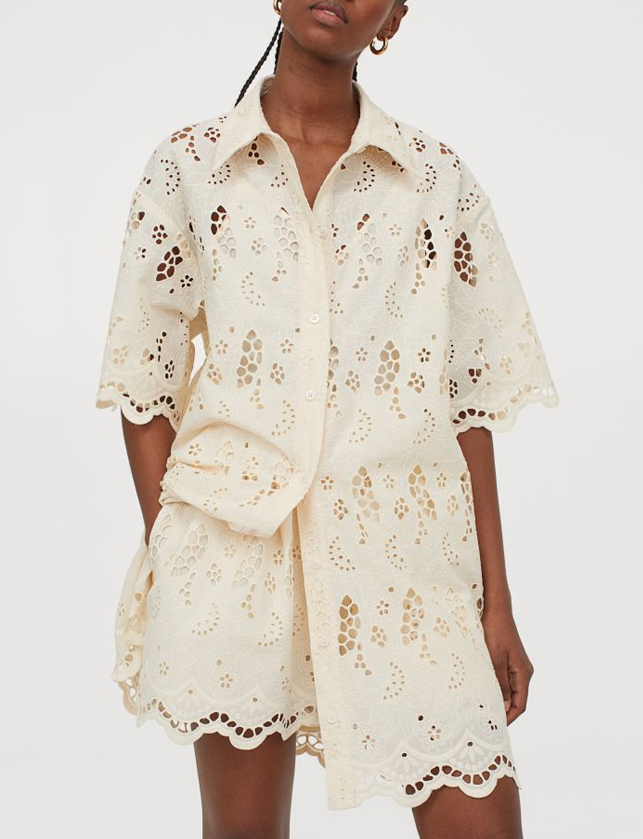 broderie anglaise shorts h&M