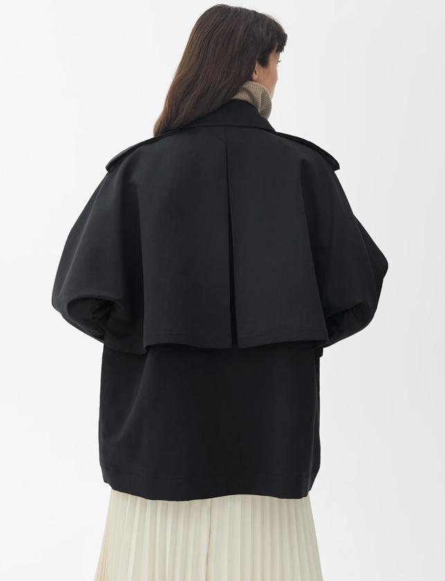 arket short trench coat