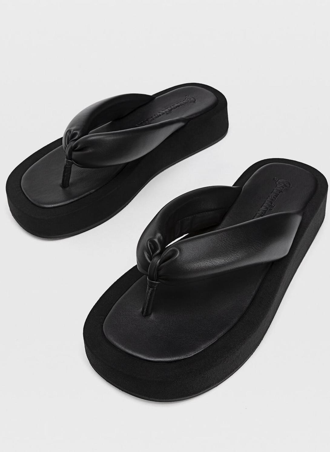 padded flat sandals