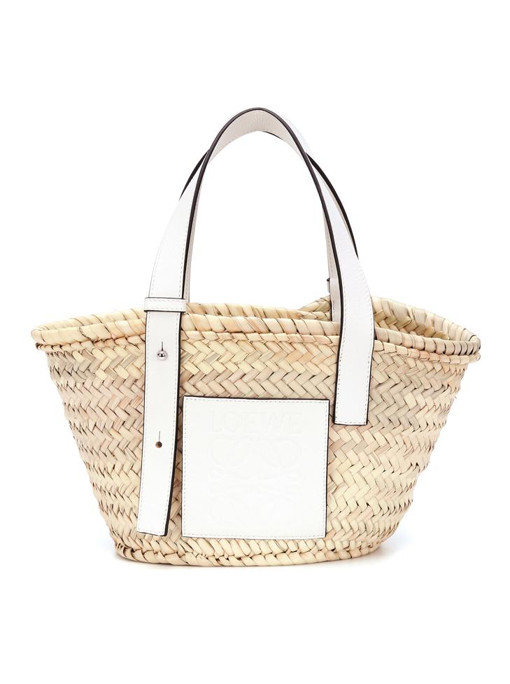 loewe beige basket bag