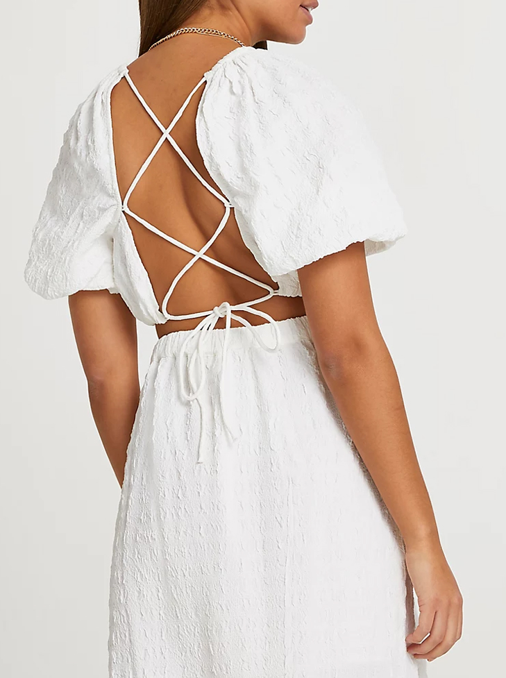 open back white top