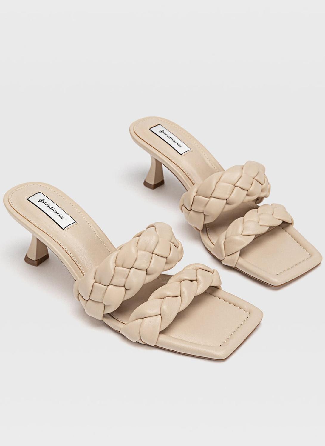 beige braided sandals