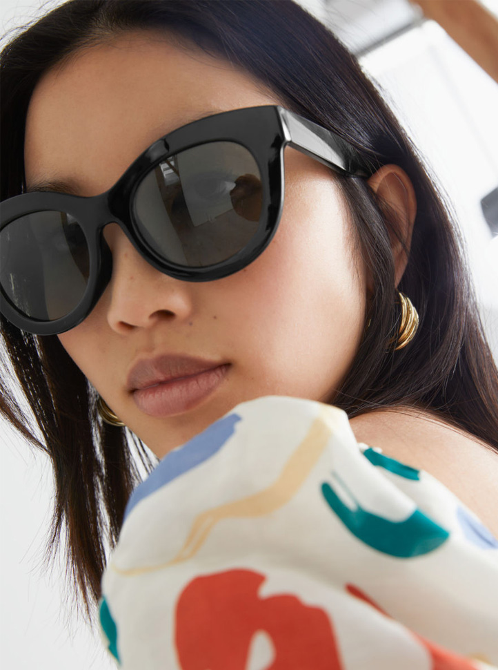 black round sunglasses 2021