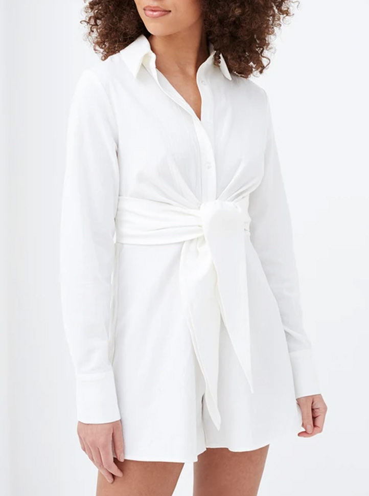 front knot playsuit