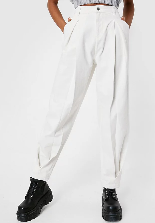 white jeans nasty gal