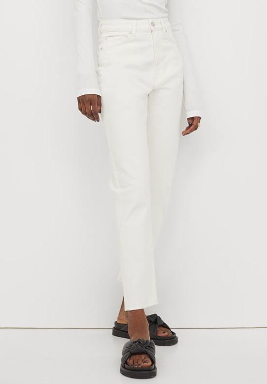 white mom jeans h&M