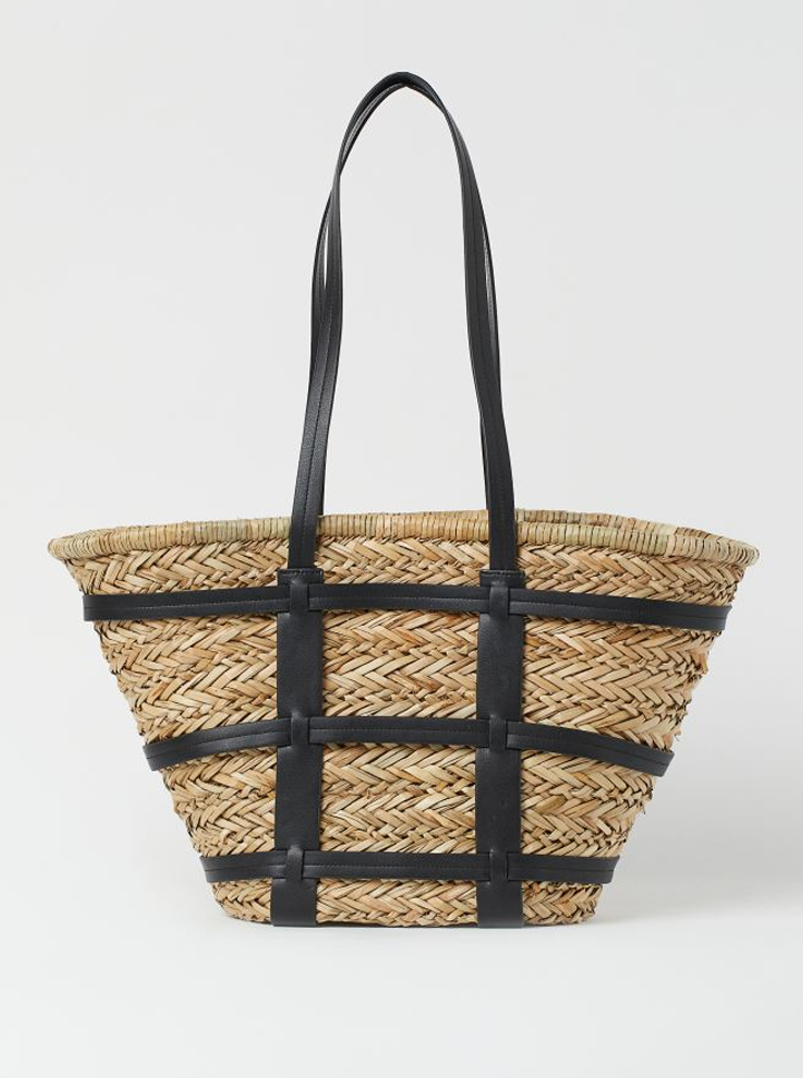 straw bag h&M 2021