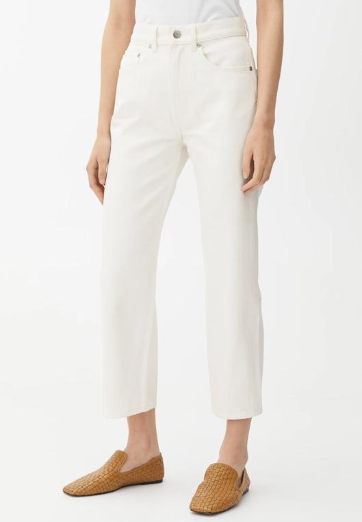 white straight jeans arket