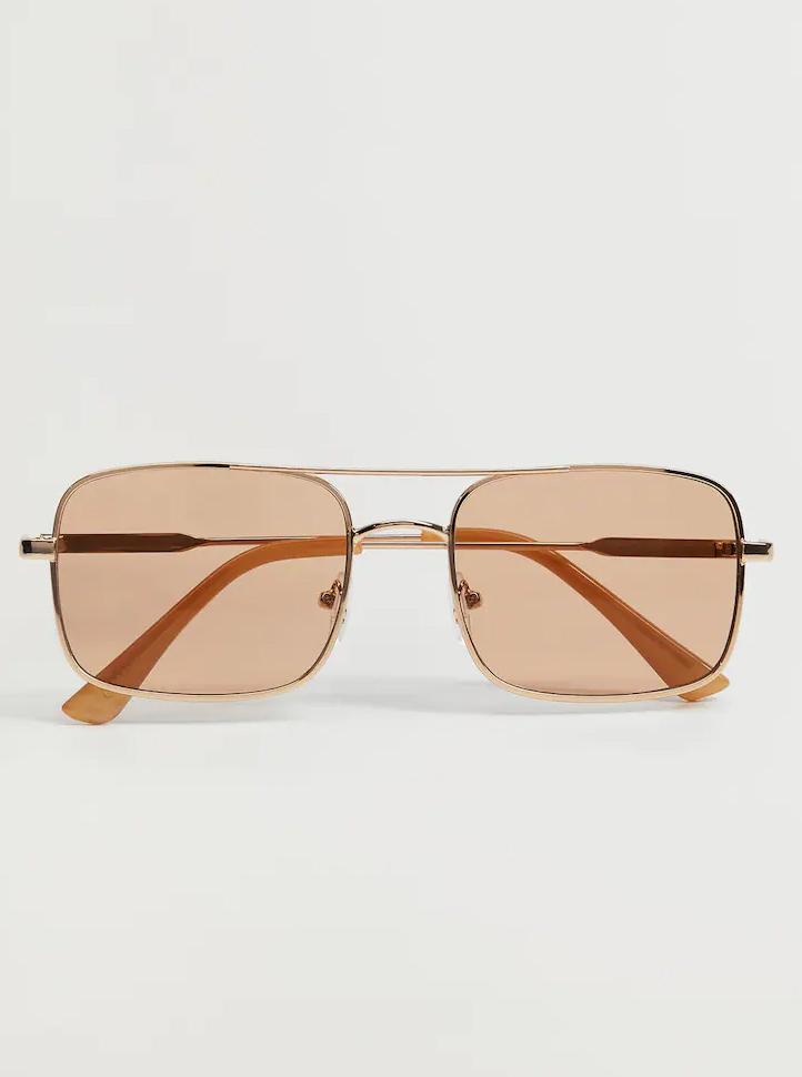 gold square sunglasses