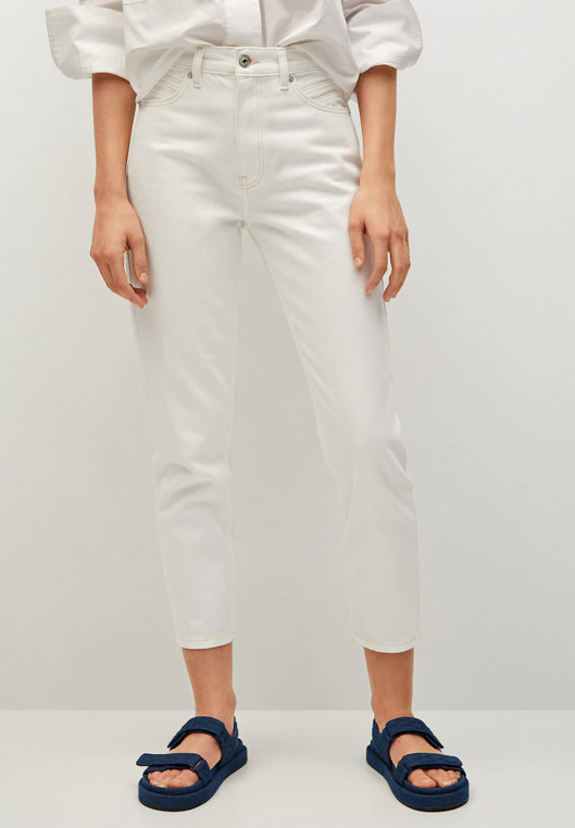 white mom jeans mango