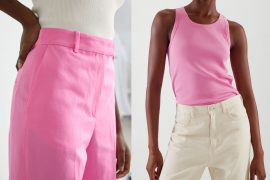 summer outfit ideas with pink pieces