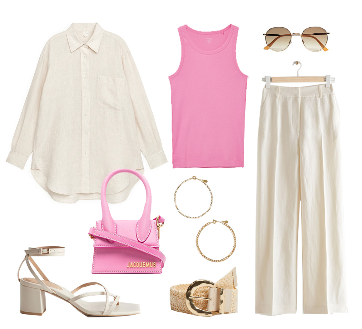 linen trousers outfit idea summer 2021