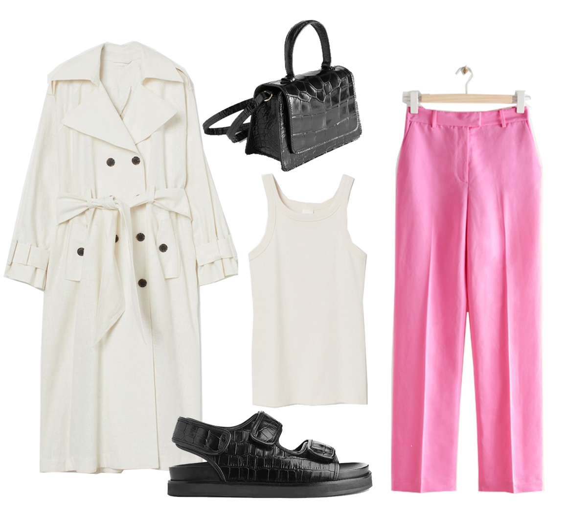 pink trousers outfit ideas 2021