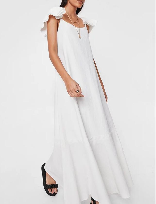 maxi white dress nasty gal