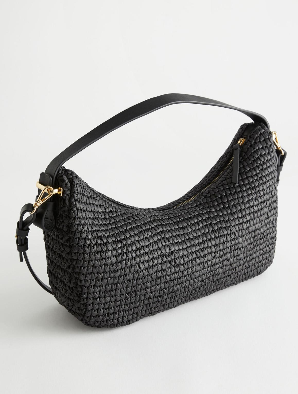 black straw bag summer 2021