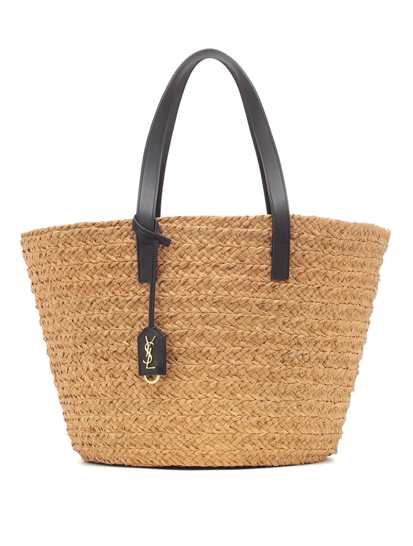saint laurent straw bag
