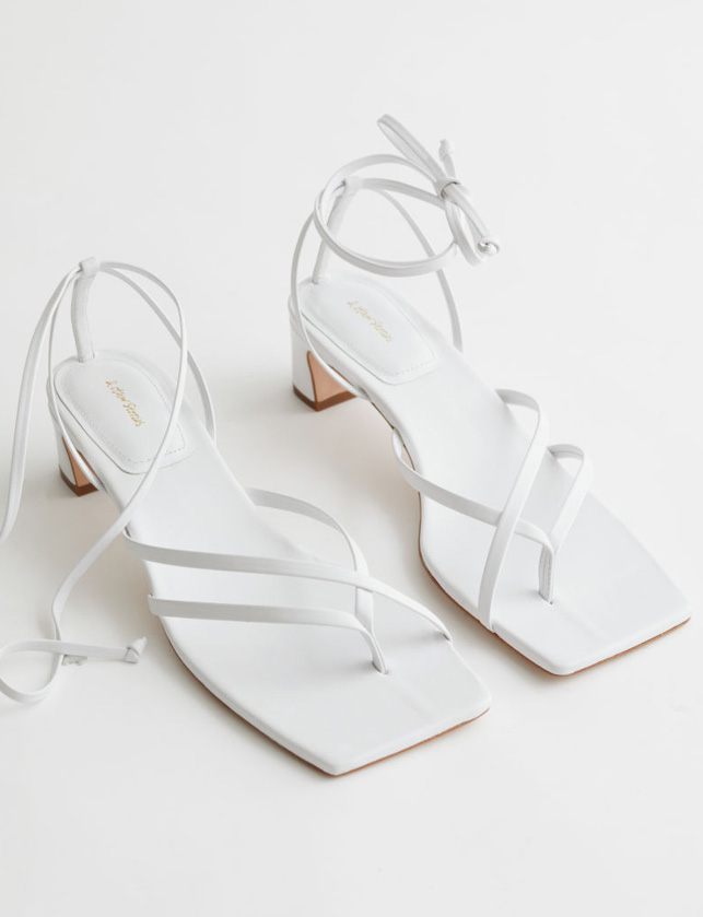 white straped sandals otherstories