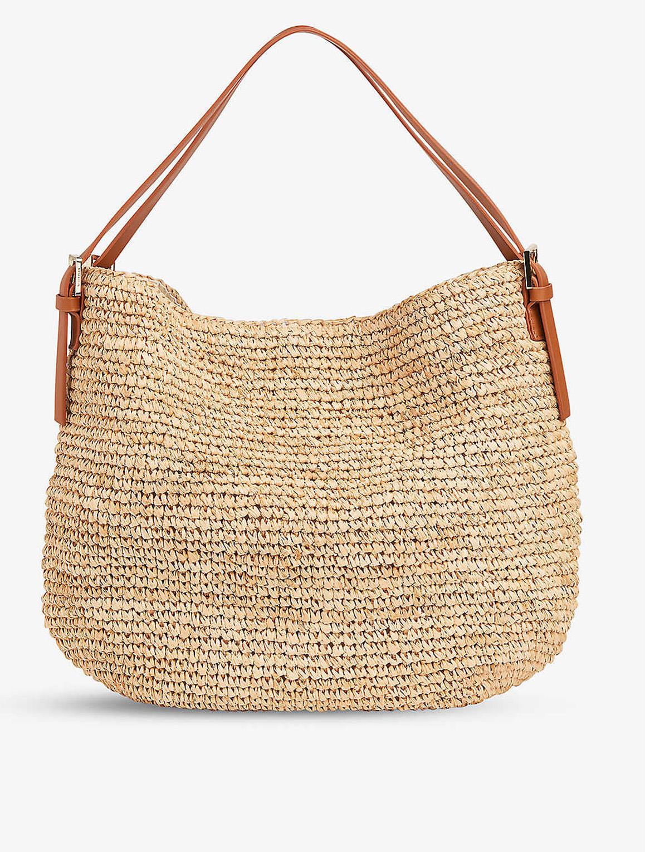 whistles aria straw shoulder bag