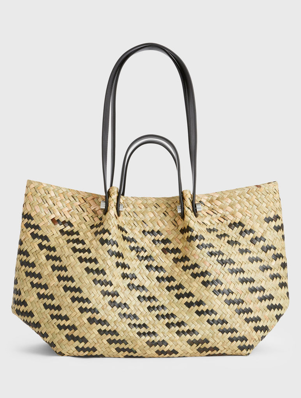 allsaints straw tote bag