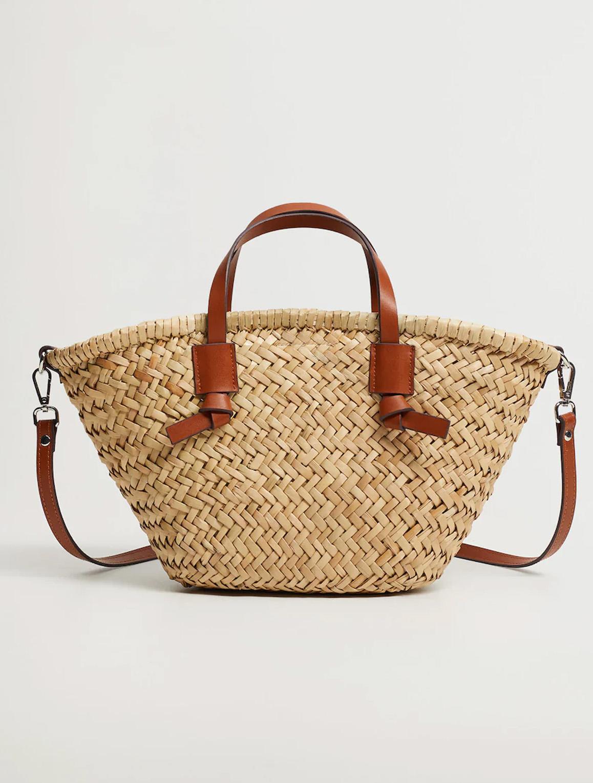 straw basket bag mango