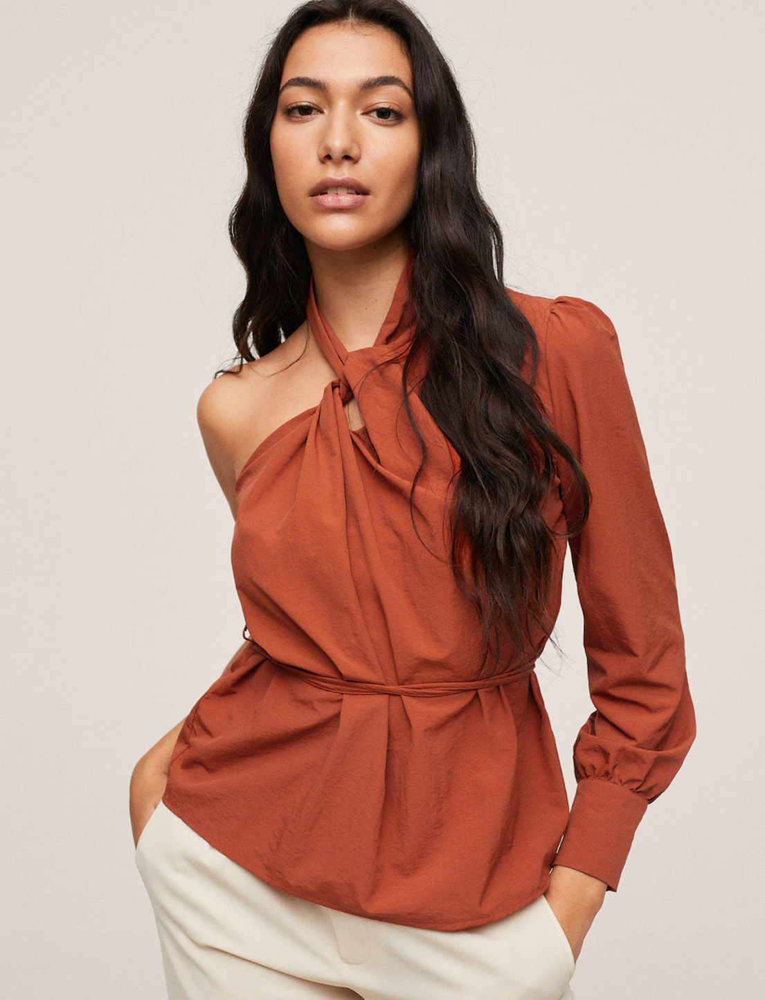 asymetric one shoulder top