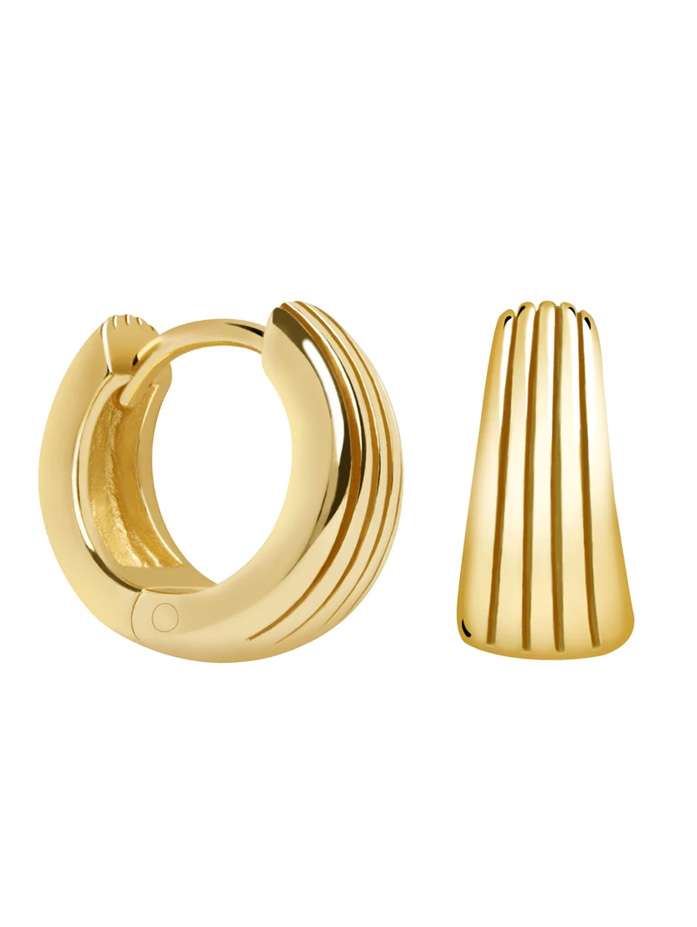 astrid and miyu gold earrings hoops