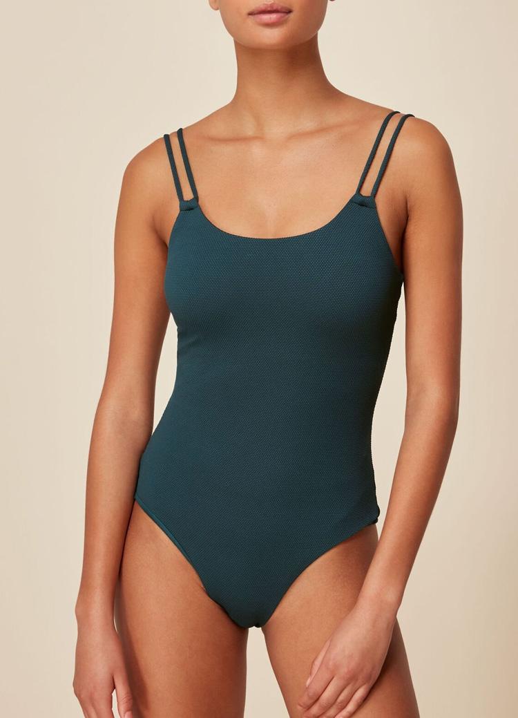 green swimsuit