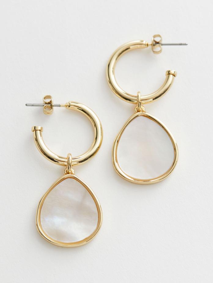 crystal gold earrings