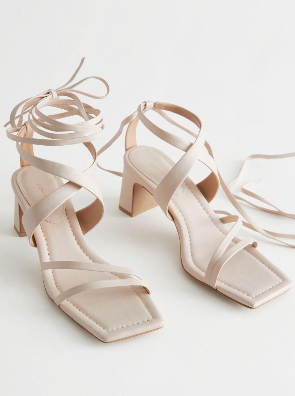 beige strappy sandals 2021