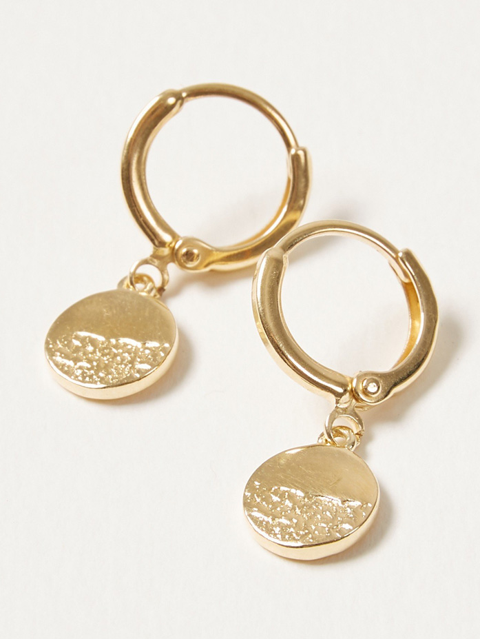 gold pentad earrings