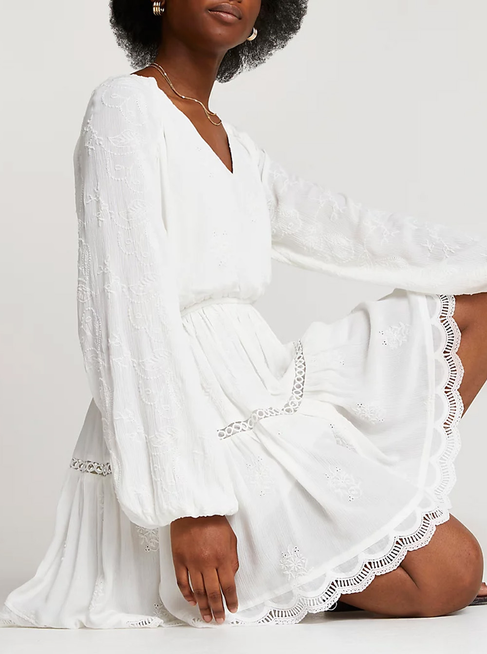white mini dress zimmerman dupe