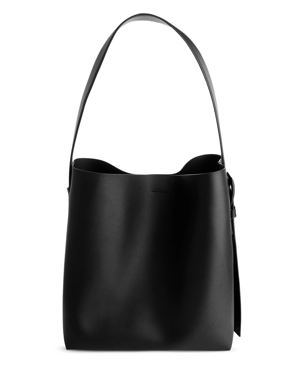 arket leather tote bag