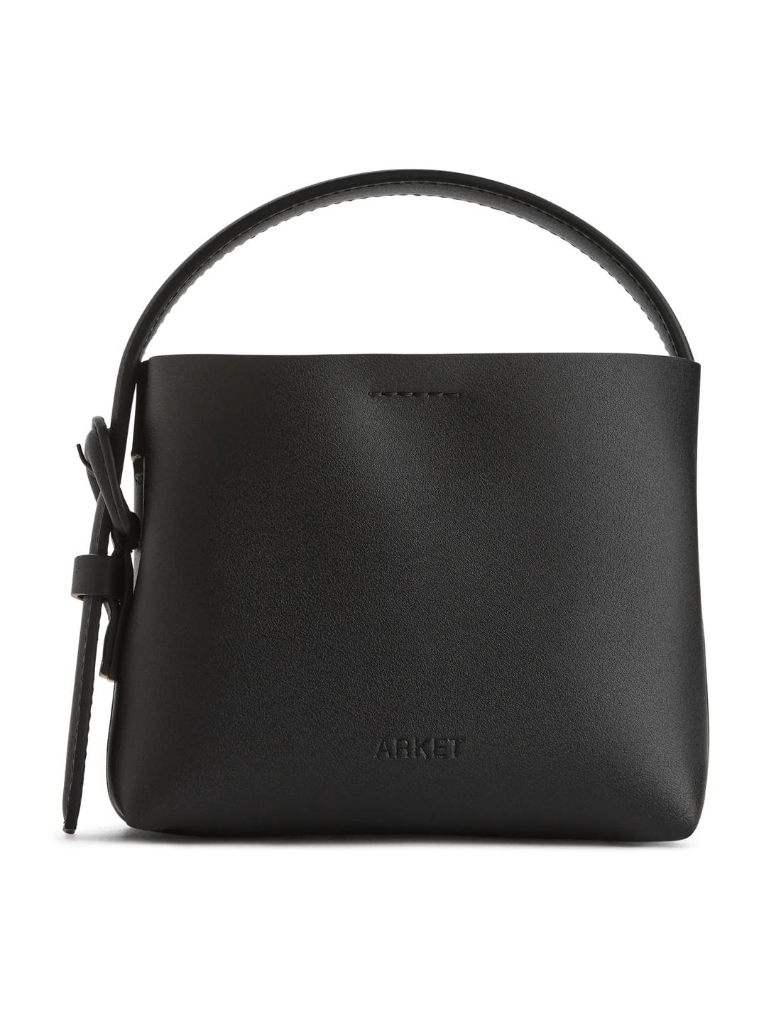 arket small crossbody leather bag