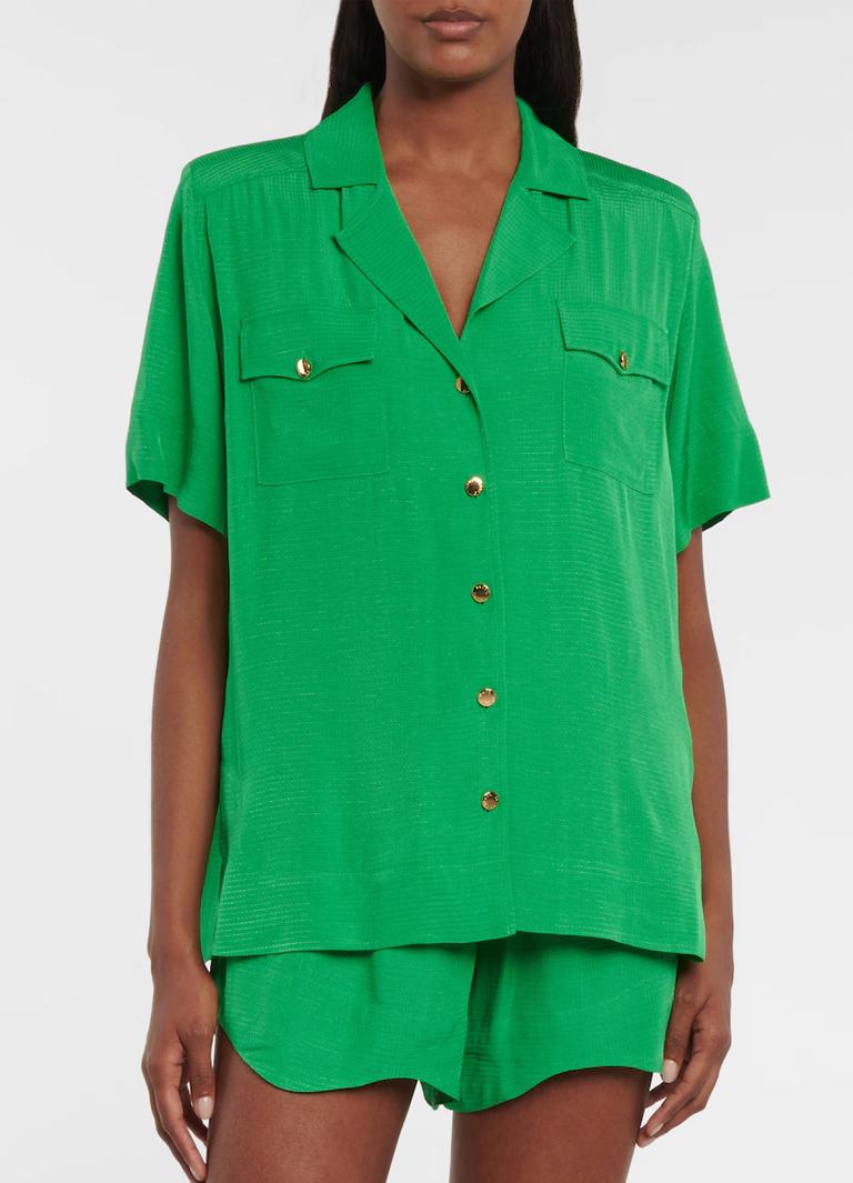 green ganni shirt