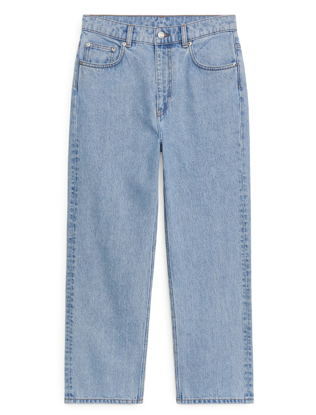 blue cropped straight jeans arket