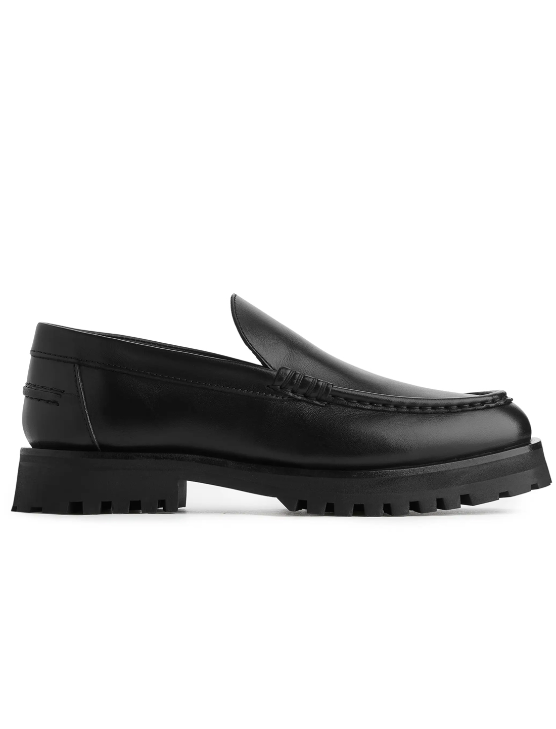 black chunky loafers arket
