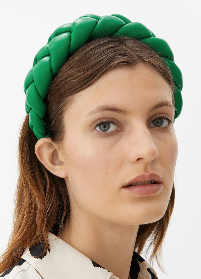 green padded hairband