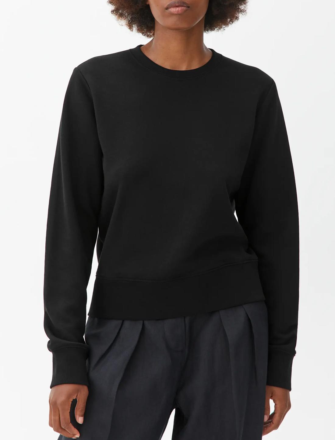 black sweatshirt arket women