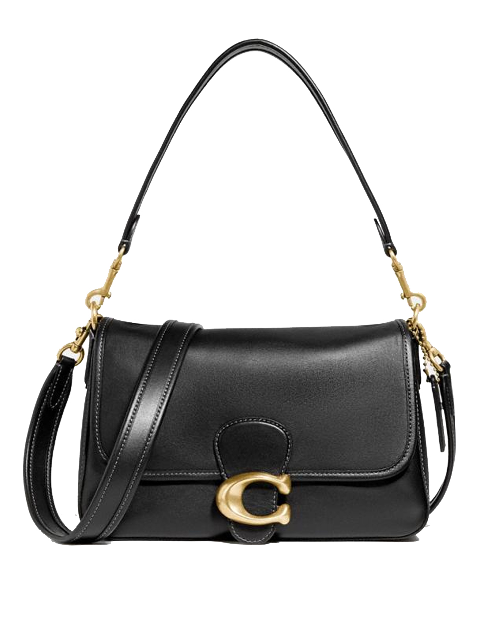 coach black soft tabby bag