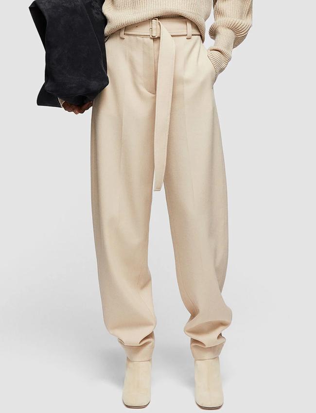 beige trousers joseph