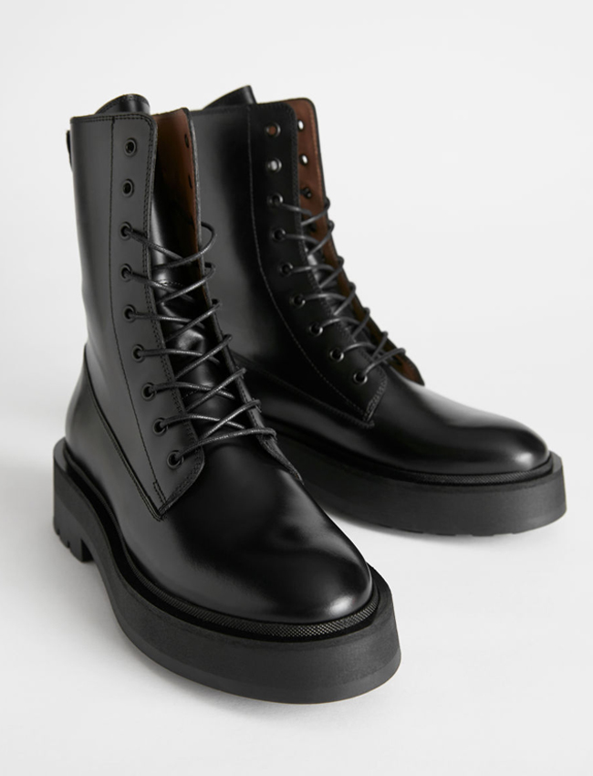 otherstories black chunky boots